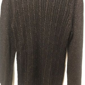 Banana republic metallic black sweater